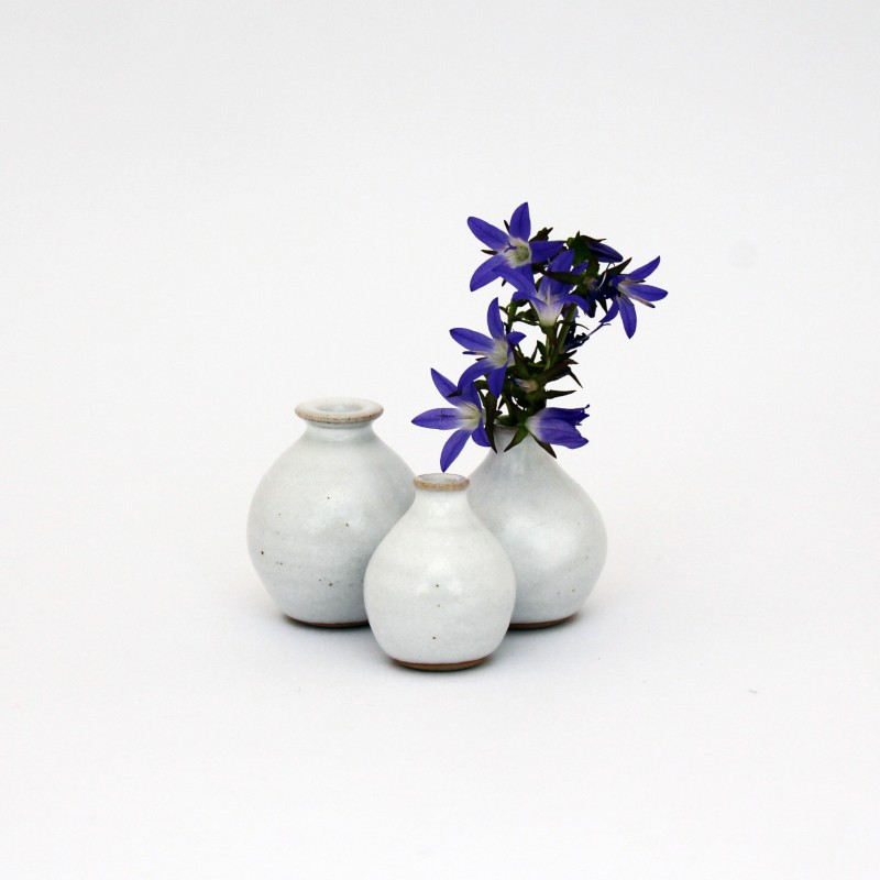 Mini-vases blancs