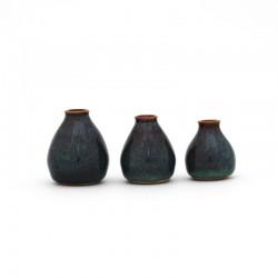 Mini-vases, brun bleuté