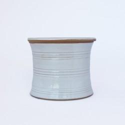Beurrier à eau cintré, lignes gravés n° 2, Blanc