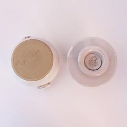 Beurrier à eau avec bouton, blanc