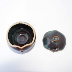 Boîte boule aux boutons alignés