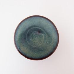 Beurrier à eau cintré, décor spirale, Brun bleuté 2