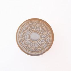 Beurrier à eau cintré pétales de lotus, avec trous, blanc sable