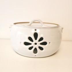 Pot à oignons, blanc