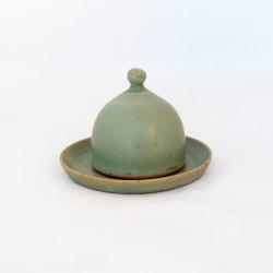 Salière magique verte, petit bouton rond