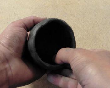 Technique du pincé, bol pincé en poterie, Terr'Ame, atelier-boutique de céramique de Véronique Bélier, Trévoux, Ain