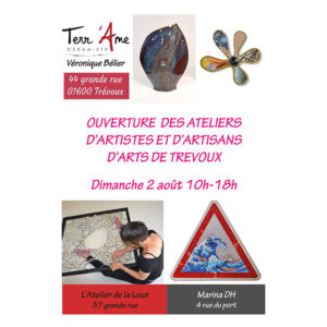 Ouverture Ateliers d'Art de Trévoux, Ain, Terr'Ame